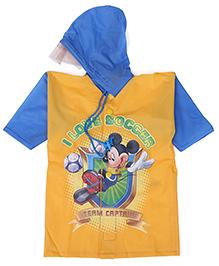 Mickey Hooded Raincoat - Orange