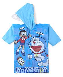 Doraemon Hooded Raincoat - Dark Blue