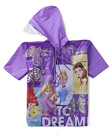 Disney Princess Hooded Raincoat - Purple