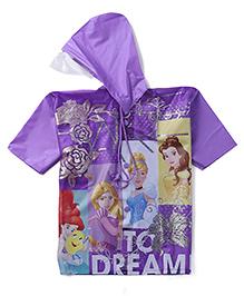 Disney Princess Hooded Raincoat - Purple
