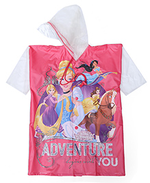 Disney Princess Hooded Raincoat Adventure Print - Pink