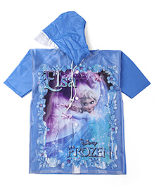 Disney Frozen Hooded Raincoat Elsa Print - Blue