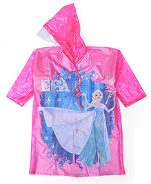 Disney Frozen Hooded Raincoat - Pink