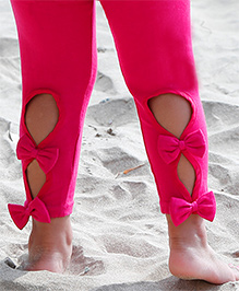 D'chica Stylish Is Me Leggings For Girls - Fuschia