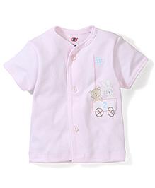 Zero Half Sleeves Vest Bunny Print - Light Pink