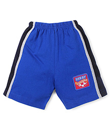 Taeko Casual Shorts With Derby Patch - Royal Blue