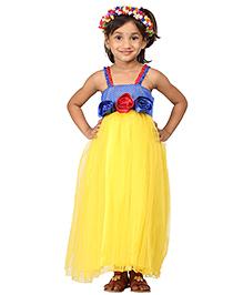 Pakhi Snow White Themed Tutu Dress - Yellow And Blue