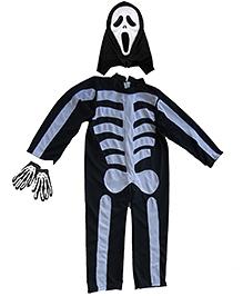 Pakhi Halloween Skeleton Costume Set - Black