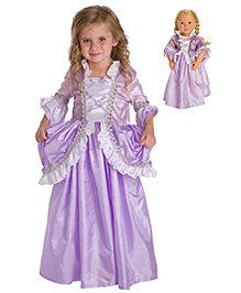 Pakhi Rapunzel Princess Dress Up Costume Lavender 6 | 5 - 6 Years High Quality Satin, Cotton Lining