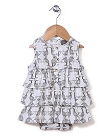 Kate Quinn Fish Print Dress - Off White