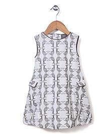 Kate Quinn fISH Print Dress - White