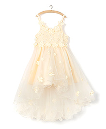 Whitehenz Clothing Tutu Floral Dress - Beige