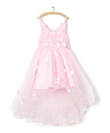Whitehenz ClothingStylish Tutu Floral Dress - Pink
