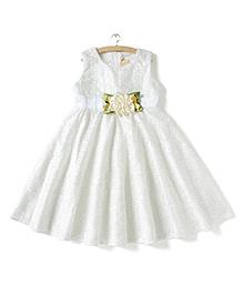 Whitehenz ClothingLace Applique Dress - White