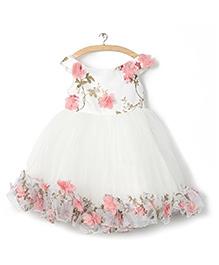 Whitehenz ClothingRossette Tutu Dress - White & Pink