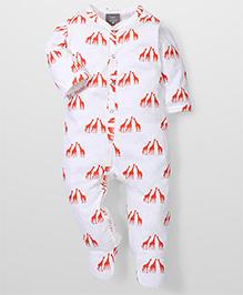 Kate Quinn Giraffe Print Romper - White