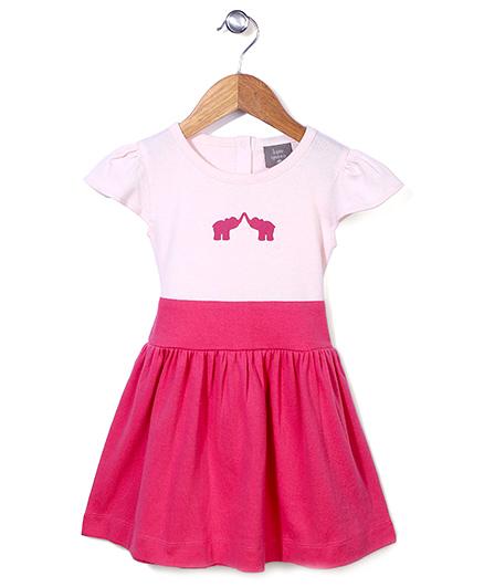 Kate Quinn Elephant Print Dress - Pink