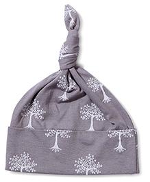 Kate Quinn Tree Print Knot Hat - Grey