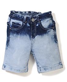 Vitamins Ice Cloud Wash Denim Shorts - Blue