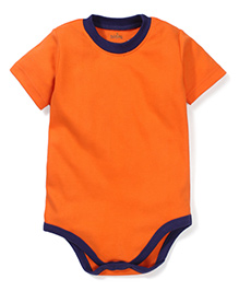 Babyhug Half Sleeves Onesie - Orange