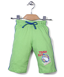 Taeko Three Fourth Pant With Tough Guy Print - Light Green