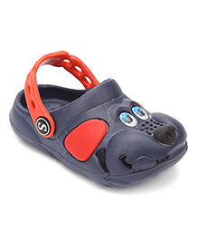 Fresko Puppy Dog Design Clogs - Navy Blue