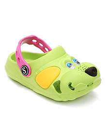 Fresko Puppy Dog Design Clogs - Green