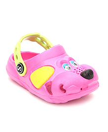 Fresko Puppy Dog Design Clogs - Pink