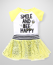 Freshly Squeezed 2 Piece Top & Skirt Set - Yellow & White