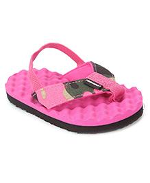 Fresko Baby Flip Flop With Back Strap - Pink