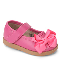 Mooshu Trainers Baby Shoes With Flower - Pink