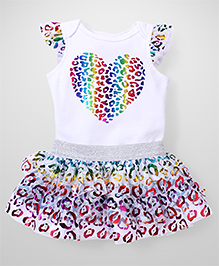 Freshly Squeezed Heart Print Dress - White & Multicolour