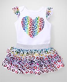 Freshly Squeezed Heart Print Dress - White & Multicolour