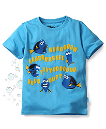 Disney by Babyhug Finding Dory Half Sleeves T-Shirt Dory Print - Blue