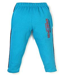 Taeko Full Length Track Pants With Kensington 81 Print - Aqua Blue
