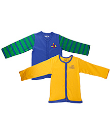 Kidsmode Organic Cotton Vest Pack of 2 - Yellow Green Blue