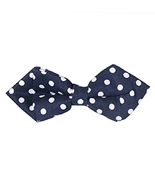 Little Hip Boutique Polka Dot Pin Bow - Blue