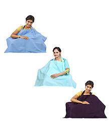 Lulamom Nursing Cover Astral Aura Blue Tint Little Blue - Pack Of 3