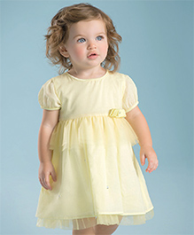 dave & bella Plain Elegant Dress - Yellow