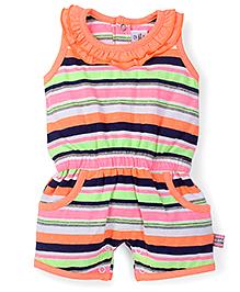 ToffyHouse Stripe Print Romper - Multicolor