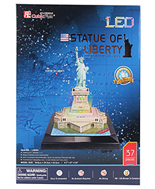 CubicFun Statue Of Liberty USA Puzzle Multicolor - 37 Pieces