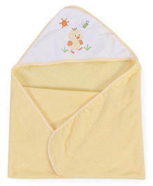 Spasilk Duck Print Hooded Towel - Yellow