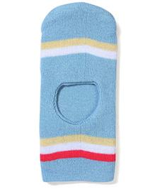 Babyhug Monkey Stripe Cap - Light Blue
