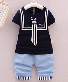 Lil Mantra T-Shirt & Capri Set - Blue