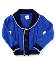 Babyhug Full Sleeves Sweater - Royal Blue