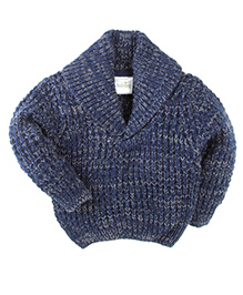 Babyhug Full Sleeves Sweater Tuck Knit - Blue