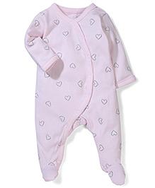 Sterling Baby Heart Print Romper - Pink