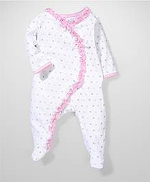 Sterling Baby Heart Print Coverall - Pink