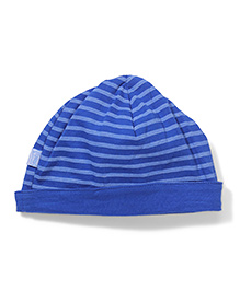 I play Newborn Reversible Stripe Print Cap - Blue