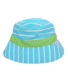 I Play Strip Print Sun Protection Hat - Blue